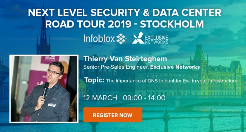 Infoblox – March 12, 09:00 CET – Security & Data Center Road Tour, Stockholm