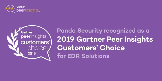 Panda Security har fått utmärkelsen 2019 Gartner Peer Insights Customers' Choice for EDR Solutions
