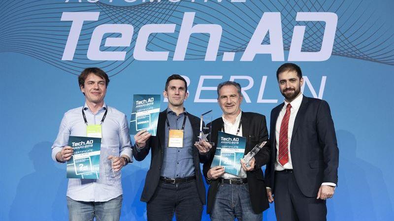 Självkörande bussar i Barkarbystaden prisade på tech-gala i Berlin