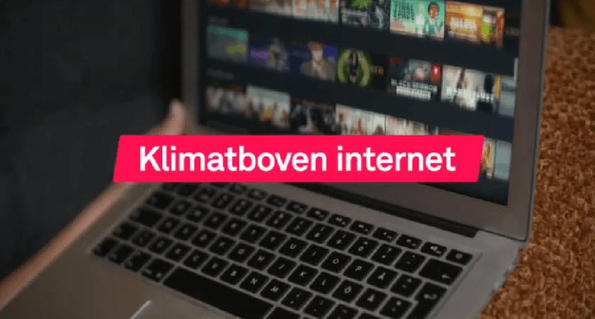 Klimatboven internet slukar energi