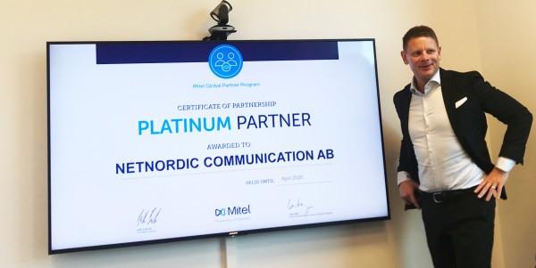 NetNordic har nu högsta partnerstatus hos Mitel – Platinum Partner!