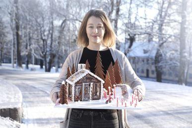 KTH-student tar hem Elons specialpris för landets bästa pepparkakshus 1