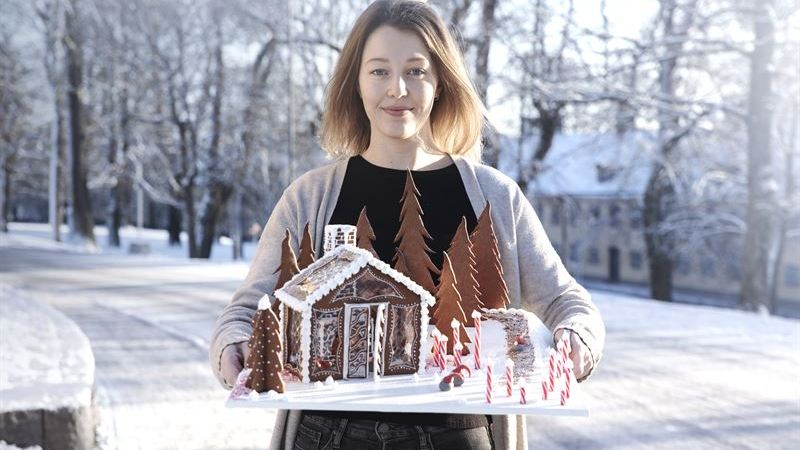 KTH-student tar hem Elons specialpris för landets bästa pepparkakshus