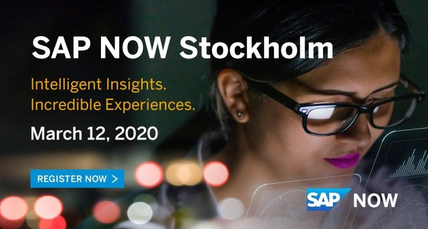 Välkommen till SAP NOW Stockholm