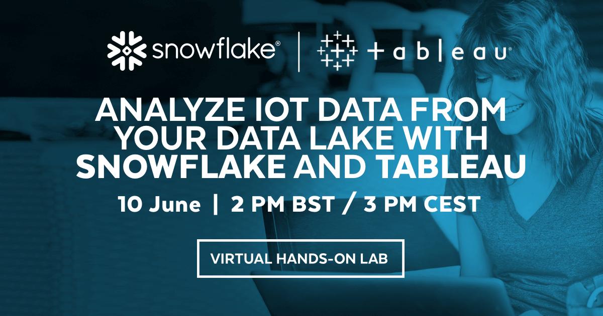 Digital workshop med Snowflake - insikter och översikt från IoT data som samlats i en DataLake 1