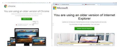 Professionellt utförd nätbluff – datorn kapas via falsk uppdatering 1