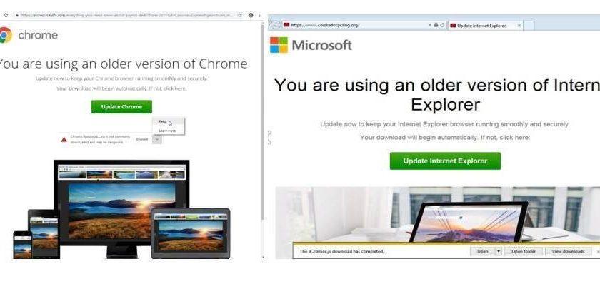 Professionellt utförd nätbluff – datorn kapas via falsk uppdatering