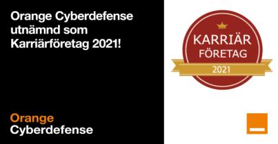 Orange Cyberdefense är för tredje året i rad utvald som ett Karriärföretag 1