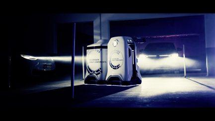Volkswagen-koncernen visar prototyp av den mobila laddningsroboten 1