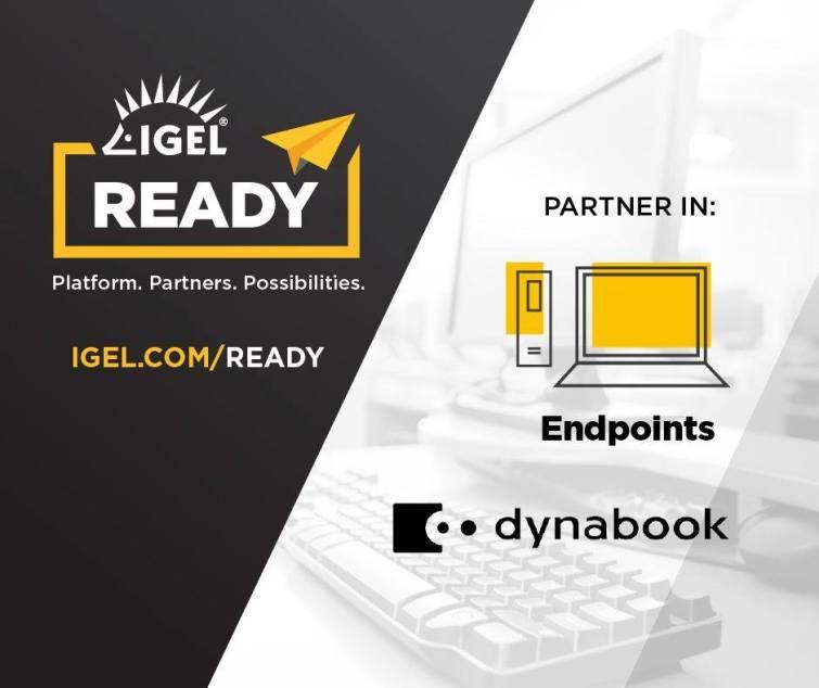 Dynabook ansluter sig till Igel Ready-programmet som teknikpartner för klientenheter