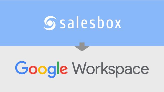 Salesbox CRM tillgängligt på Google Workspace Marketplace