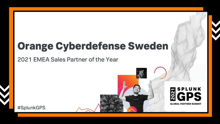 Orange Cyberdefense utnämnd som 2021 Sales Partner of the Year av Splunk