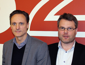 Johnas Hartmann och Jonas Danielsson, B2B IT-partner