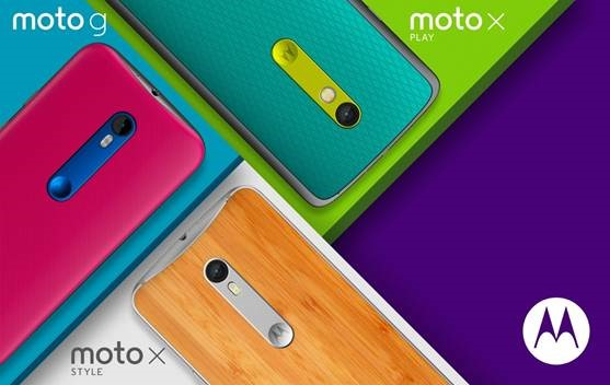Motorola lanserar nya Moto G, Moto X Play och Moto X Style