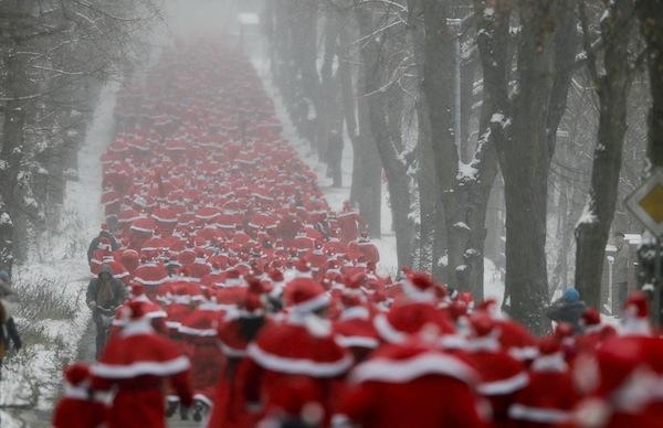 Stockholm Santa Run med Check Point
