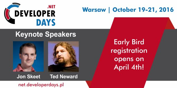NET DeveloperDays 2016 Conference 1