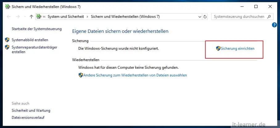 Systemabbild Unter Windows 10 It Learner De