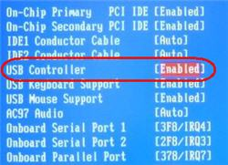Enabling USB AWARD Controller