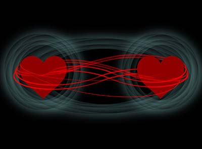 Quantum love aids communication
