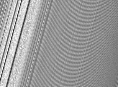 Up close with Saturn's icy rings