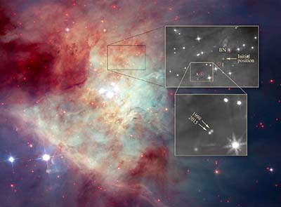 Hubble discovers a runaway star