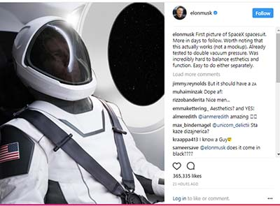 Musk unveils new space suit