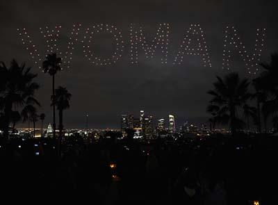 Drones light up LA sky