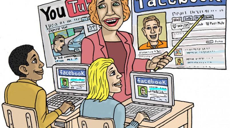 Sociala medier i klassrummet suddar ut gränser