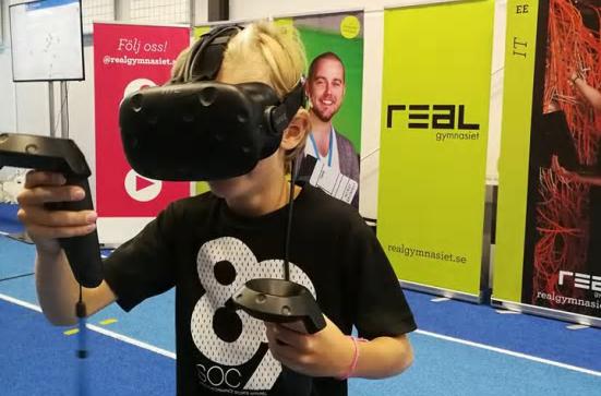 Elever från Realgymnasiet utvecklar Virtual Reality-upplevelse för Gävleborna