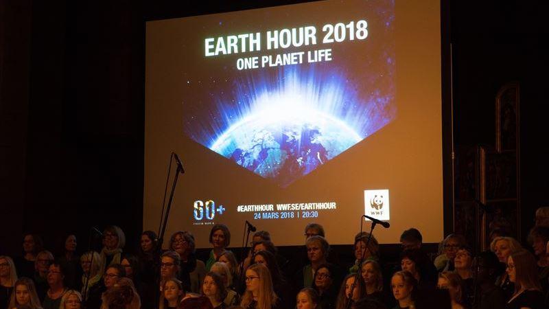 Rekordmånga kommuner deltog i Earth Hour