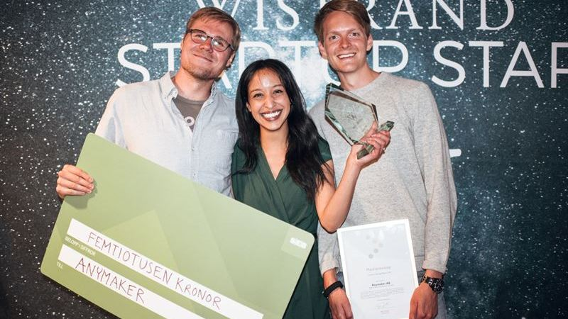 Anymaker vann Wistrand Startup Star – Kreativt lärande i 3D-värld ska locka barn att skapa