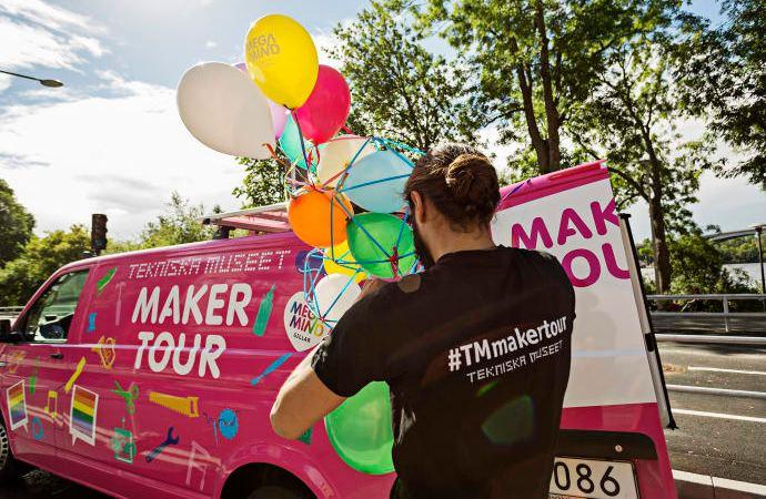 Besök Tekniska museets Maker Tour-buss under Järvaveckan