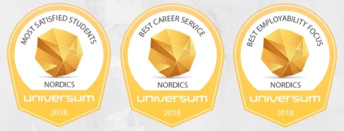 Här är universiteten och högskolorna i Norden med nöjdast studenter.