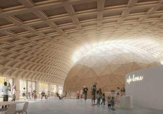 Elding Oscarson ritar Stockholms smartaste hus i trä vid Tekniska museet 1