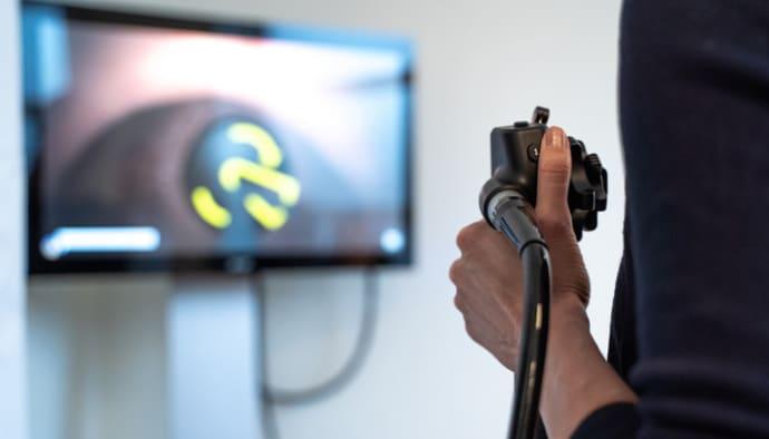 Eftertraktade studenter tränar i simulatorer