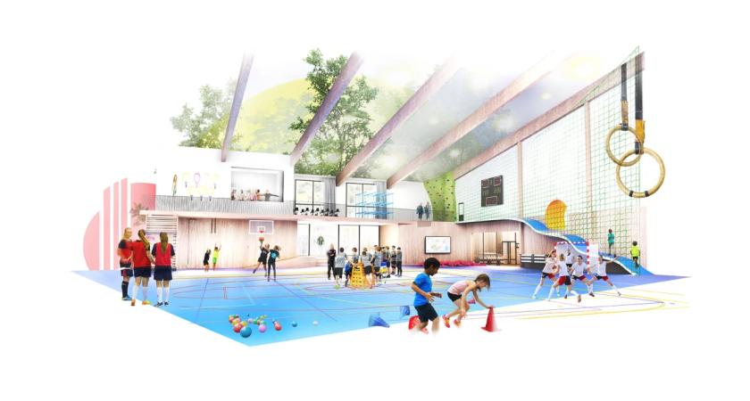 Framtidens idrottshall ska öka rörelseglädjen och minska hälsoklyftorna