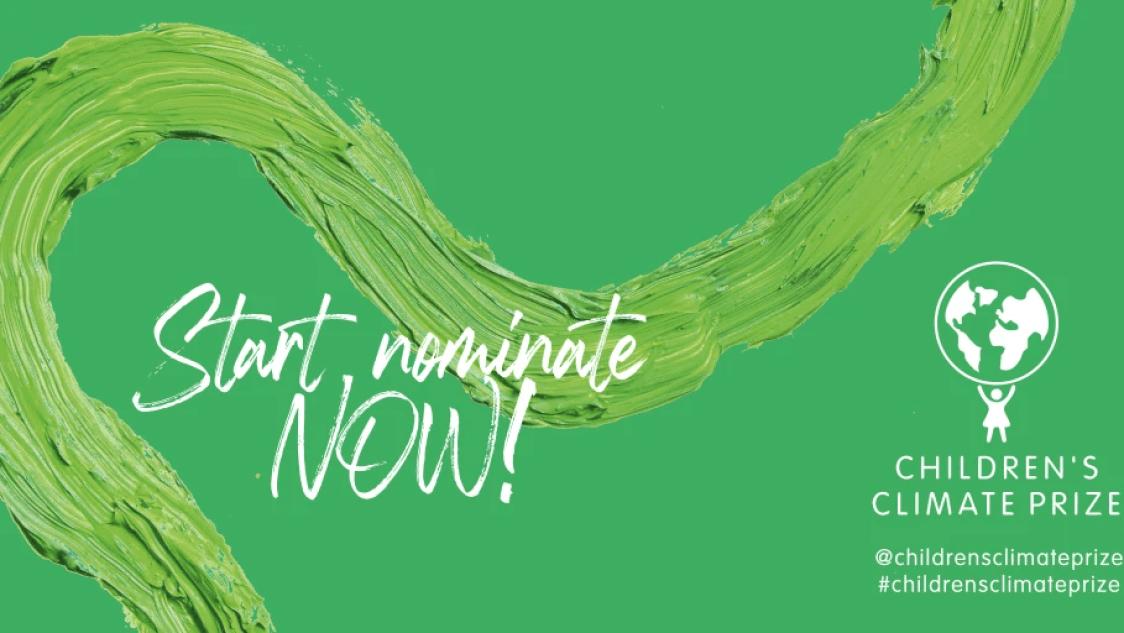 Öppet för nomineringar till Children's Climate Prize 2021