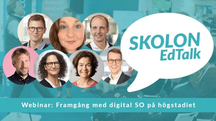 Digitalt event med Skolon EdTalk – framgång med digital SO på högstadiet