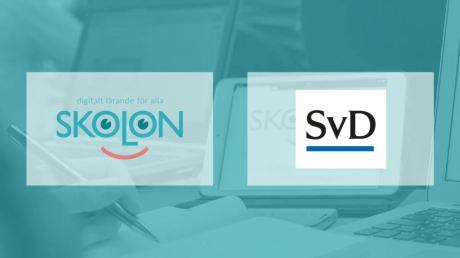 Skolon och Svenska Dagbladet i samarbete för likvärdigt lärande