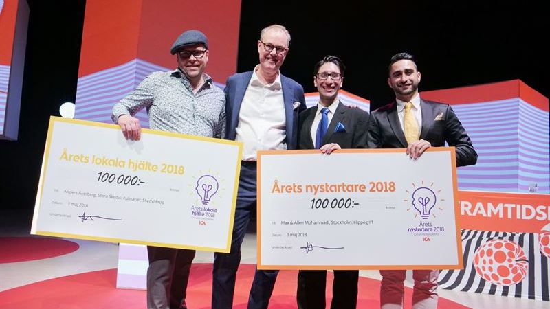 eHälsa- och knäckebrödsföretag vinnare av ICAs Entreprenörspris