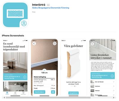 Södra släpper en ny app för att prova ut lister i hemmet