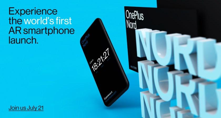 OnePlus Nord debuterar med världens första Smartphone AR-lansering den 21 juli