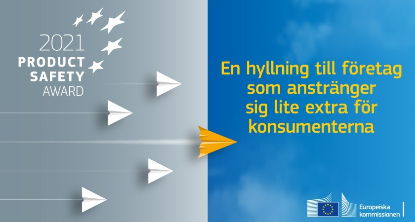 EU-pris för att uppmärksamma innovation och kvalitet inom produktsäkerhet
