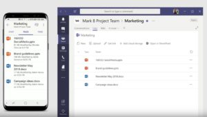 Zu sehen ist ein Screenshot aus einem YouTobe-Video von Microsoft über Microsoft Teams als Nachfolger von Skype for Business Online. Bild: Microsoft/Screenshot aus Youtube-Video