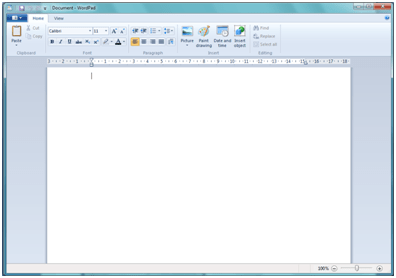 A Windows 7 megújult WordPad