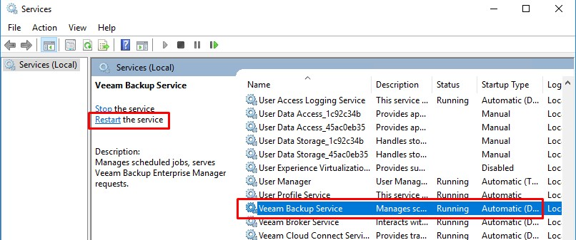 Veeam restore failed to connect to backup server localhost