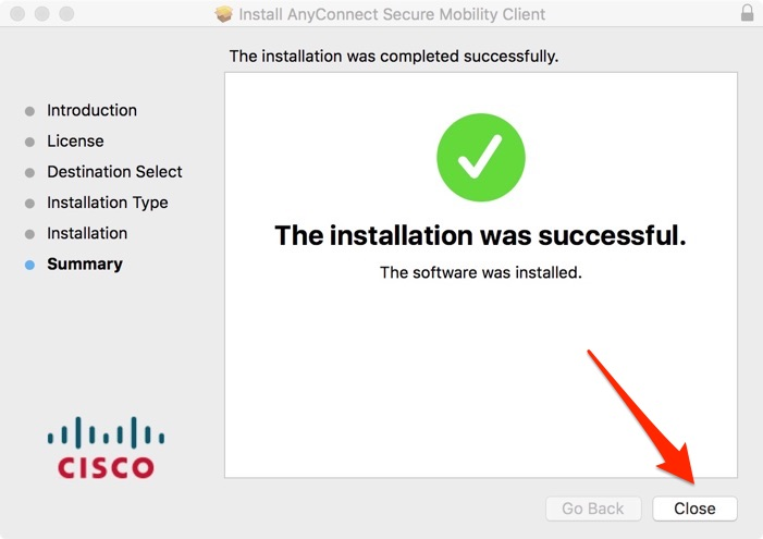 Mac Install Close