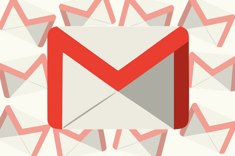 Gmail icon with small gmail icons as the background