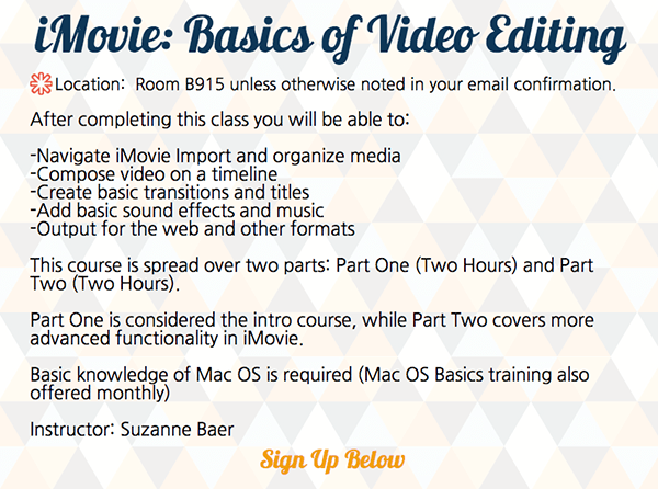 iMovie - FIT Information Technology