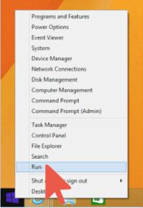 Windows Select Run
